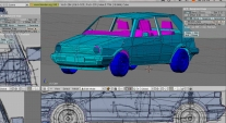 Blender VW Golf Zorn