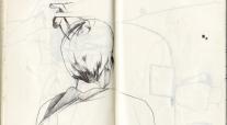 skizze frauenkopf